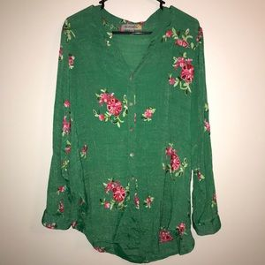 Women's Blouse with Embroidered Florals